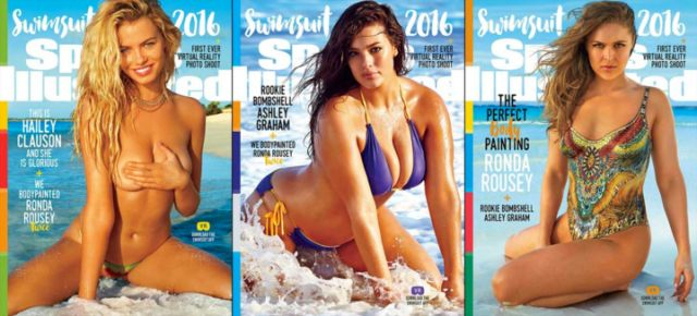 Ashley Graham, Hailey Clauson, & Ronda Rousey Land Sports Illustrated Covers