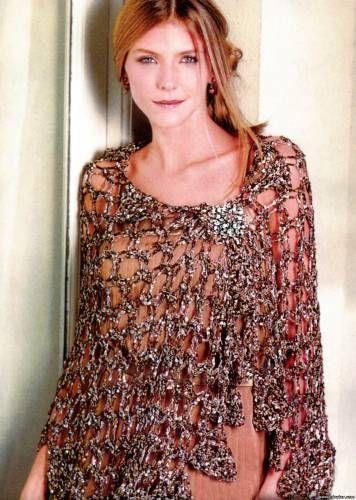 Вязание накидок на вечерние платье