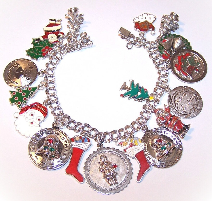 17 images about vintage sterling silver charm bracelets for Sterling silver christmas jewelry