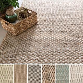 Shop for Hand-Woven Alaya Stripe Pattern Jute Rug (5' x 8'). Get free shipping…