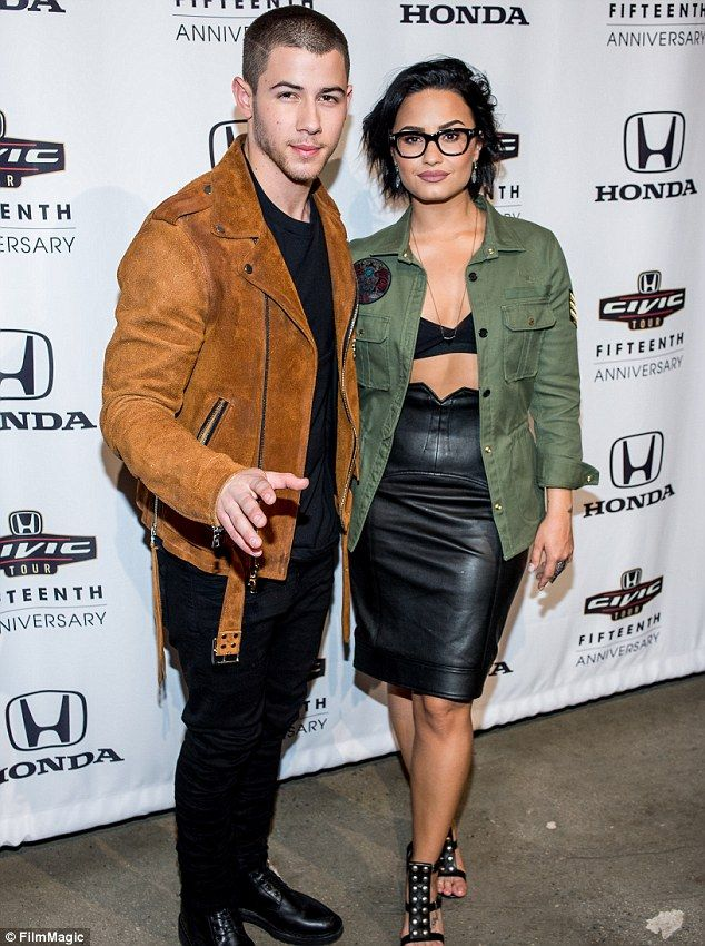 Together again: Nick and Demi go way back as she previously toured with the Jonas Brothers