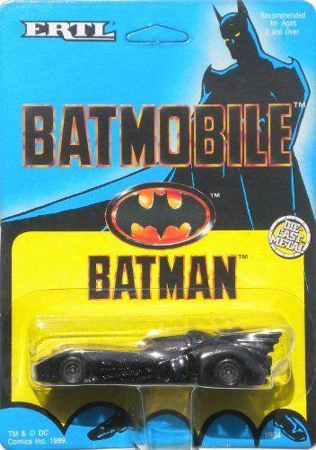 Ertl 1989 Batman> 1:64 Scale Batmobile Variant Bob Kane Card Art by Toys4Sale. $19.99. Bob Kane Card Art. Produced 1989. Die Cast Metal Body and Chasis. 1:64th Scale. Batman