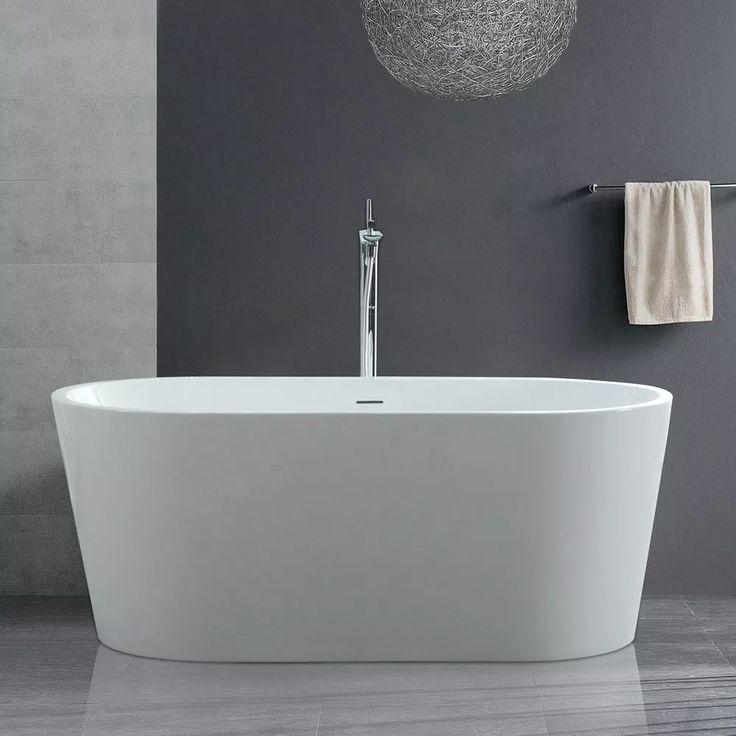 Bathtub Option:   Randolph Morris 59 Inch Acrylic Double Ended Freestanding Tub - No Faucet Drillings