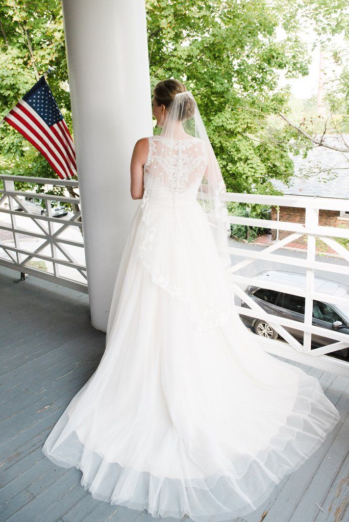 35bd68566a5 Allure Bridals  2716  size 12 used wedding dress back view on bride