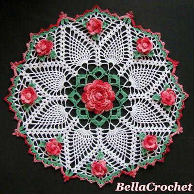 BellaCrochet: Dorothy's Roses Doily: A Free Crochet Pattern for You