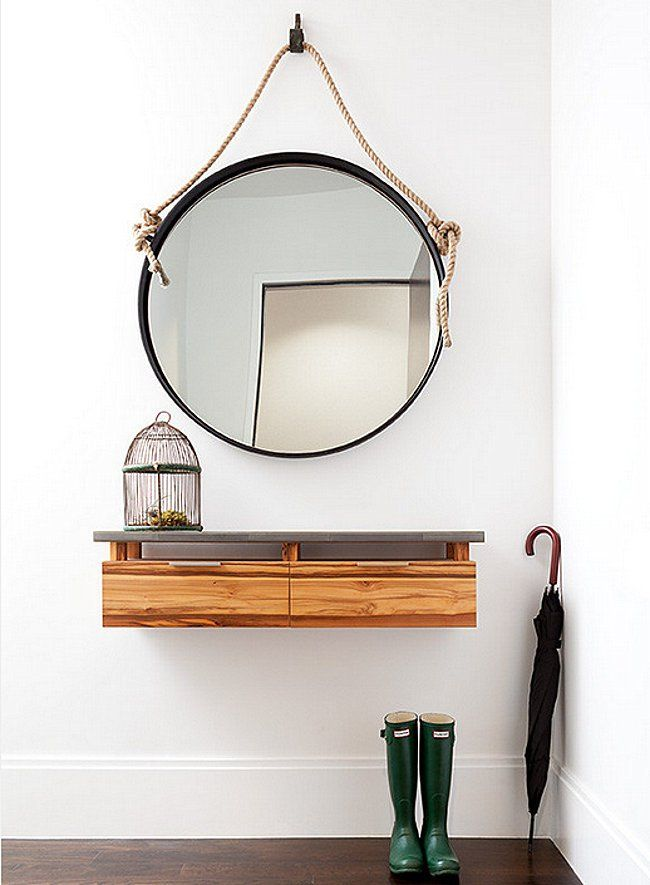 Entryway Essentials - love this modern but functional entry! Read more on the blog.