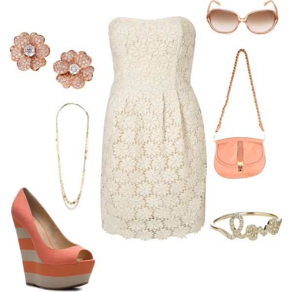 lace + shades of coral