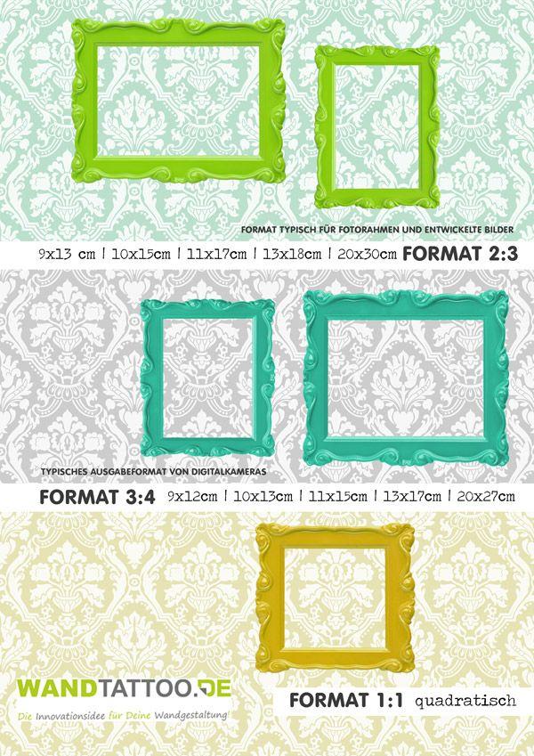 Was ist nochmal 2:3? Wie groß ist 4:3? Hier gibts Fotoformate im Überblick... #Fotos #Fotografie #Rahmen