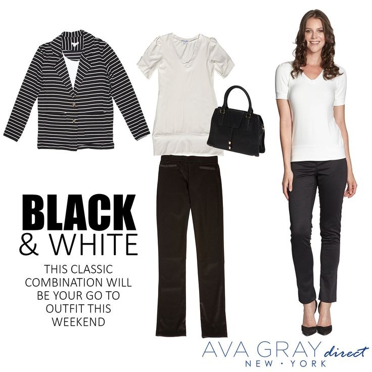 Black and White is the perfect combination for any occasion!  #Blackandwhite #AvaGrayDirect #OOTD