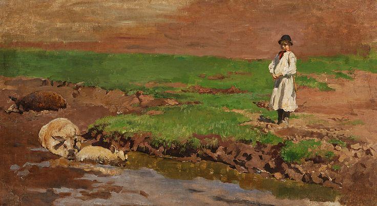 Shepherd [...] by Ladislav Mednyánszky, 1865/1885. Slovak national gallery, CC BY