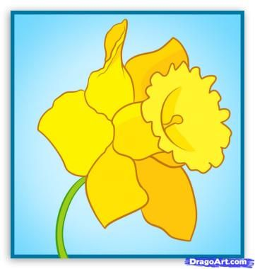 Paper Daffodil Template   activity halloween kid printable · printable hollywood…