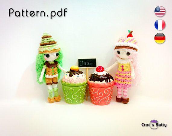 Pattern  Ice Cream Billie by CrocsBetty on Etsy