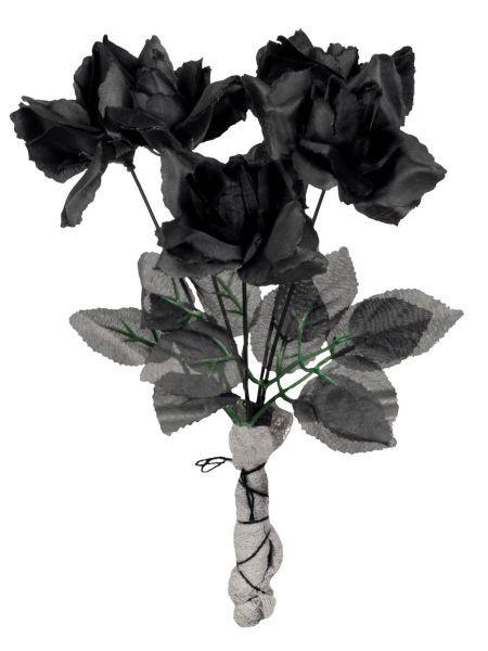 https://11ter11ter.de/46747709.html Brautstrauß schwarze Rosen #11ter11ter #flowers #party #karneval #fasching #halloween #zombie #untot #braut #bride