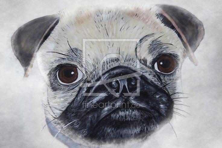 Ihre Bilder auf FineArtPrint verkaufen 11071809 TuttiCelle Malerei  Acrylmalerei  Mops  Tierportrait  niedlich  Hund  Hunderasse  Tier  Fell  Gesichtsausdruck  Gemälde  Kunstdruck  Hundeschnauze  Dog  Hundeaugen  Augen  Augenblick  Farbe  Portrait  modern  zeitlos