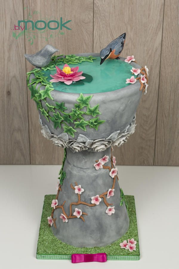 Bird Bath Cake Cakes Amp Cake Decorating Daily