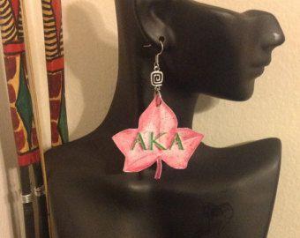 Alpha Kappa Alpha Sorority Inc AKA Ivy leaf by ElsHouseOfBamboo