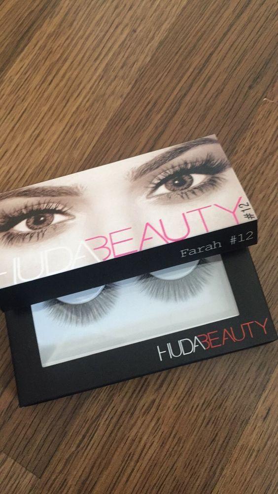 Huda Beauty Fake eyelashes Natural Fibres Lashes - Farah BNIB UK Seller  | eBay