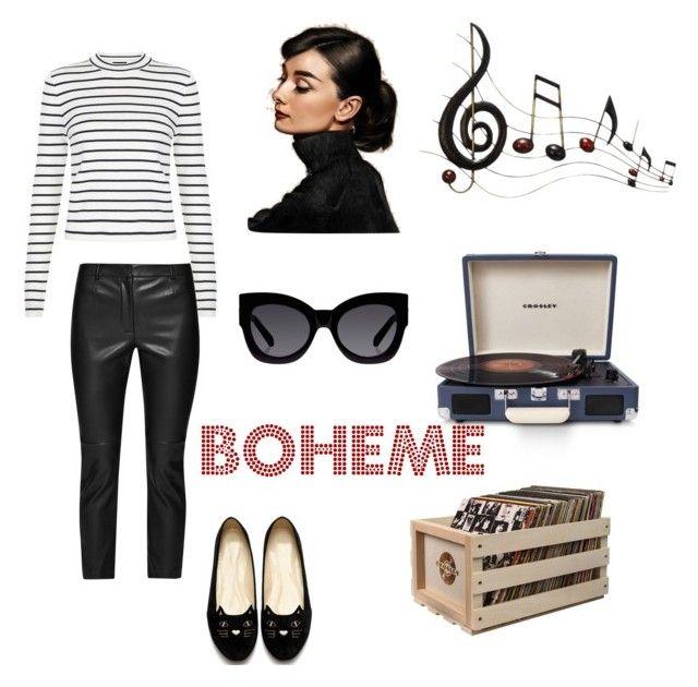 """Boheme"" by teresa-san-jorge-calderon on Polyvore featuring moda, French Connection, Benzara, Crosley Radio & Furniture, Crosley y Karen Walker"