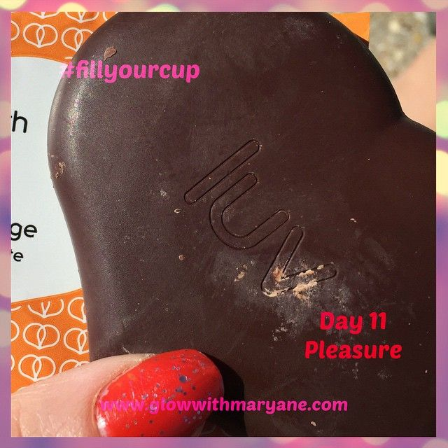 """Day 11 of the 21 Day #fillyourcup Challenge!  Let's talk pleasure, and taking pleasure in the small things, in simple things. Yes it should feel indulgent, no it shouldn't feel naughty or bring up feelings of guilt.  Pleasure is not something to save for a special occasion.  Take delight in that piece of chocolate, savour every mouthwatering moment.  You have permission to enjoy all of life's sweet pleasures, I'd just add one thing to that though - Be really present with it.  #takecareofyou…"