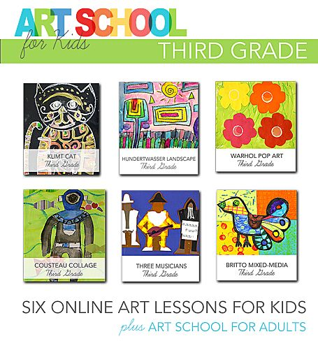 Art School for Kids: Online art videos for Third Grade