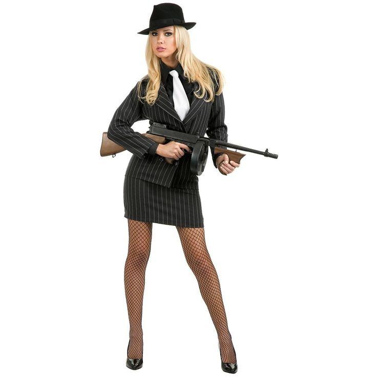 Gangster Moll Costume 20s Mobster Mafia Bonnie & Clyde Halloween Fancy Dress | eBay