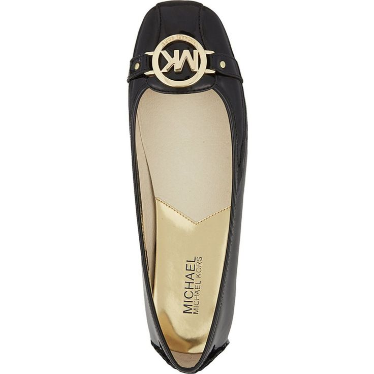 MICHAEL Michael Kors Fulton Patent Leather Moccasin Flats