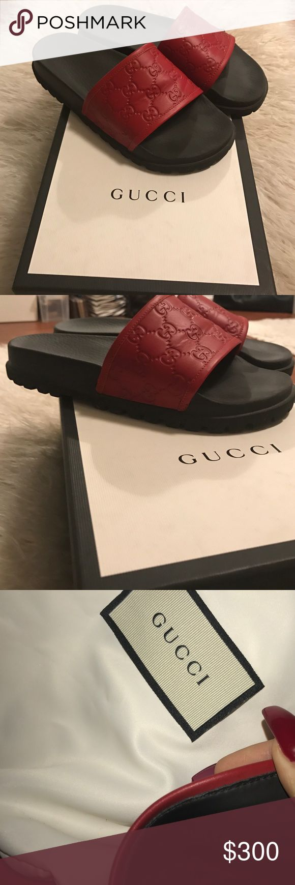 Gucci Slides 100% authentic. Worn twice, comes with box and dust bags. No offers or trades. (Men's 6) Gucci Shoes Sandals
