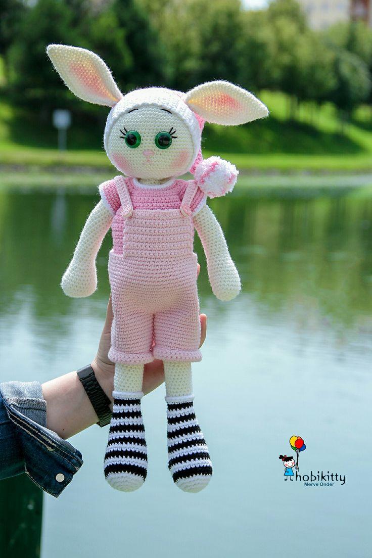 Amigurumi tonton tavşan Instagram @hobikitty 💕🎀