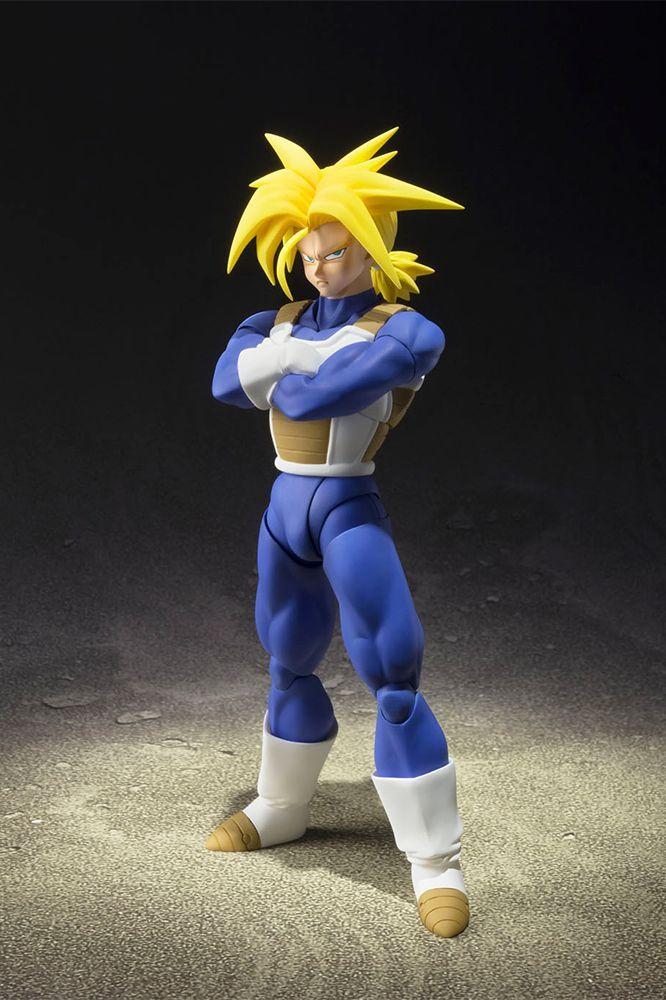 Dragon Ball Action Figures Statue Tamashii PVC Mirai Trunks Super Saiyan 14 cm ( Bandai )