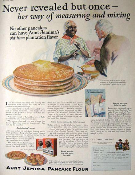 Original vintage magazine ad for Aunt Jemima Pancake Flour. Description from atticpaper.com. I searched for this on bing.com/images