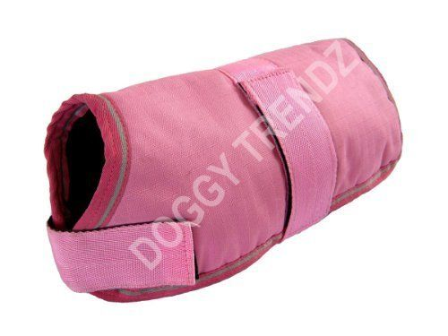 Waterproof Dog Coat Pink Fur Lining Raincoat Size 24' * Quickly view this special dog product, click the image : Dog coats