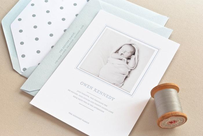 Letterpress birth announcement | sugar.paper