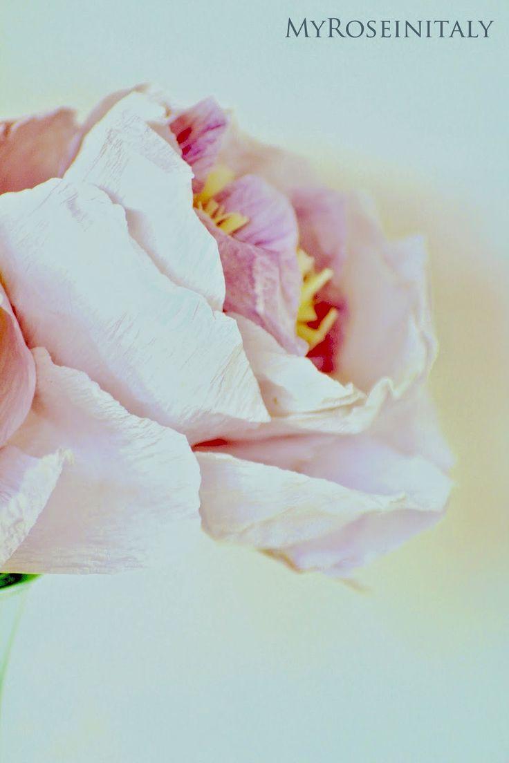 My RoseinItaly: Peonie di carta crespa