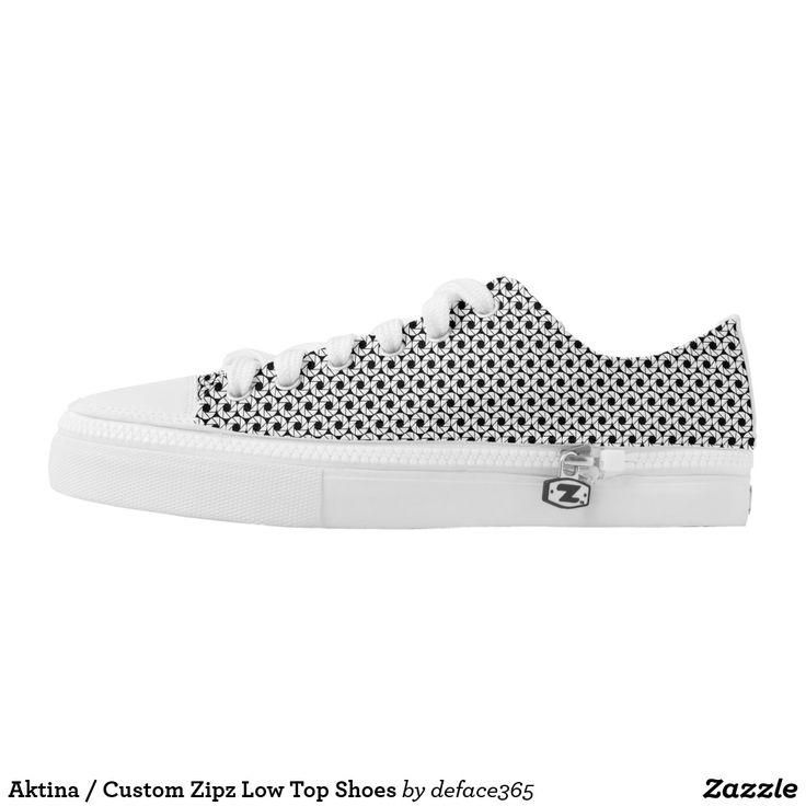 Aktina / Custom Zipz Low Top Shoes