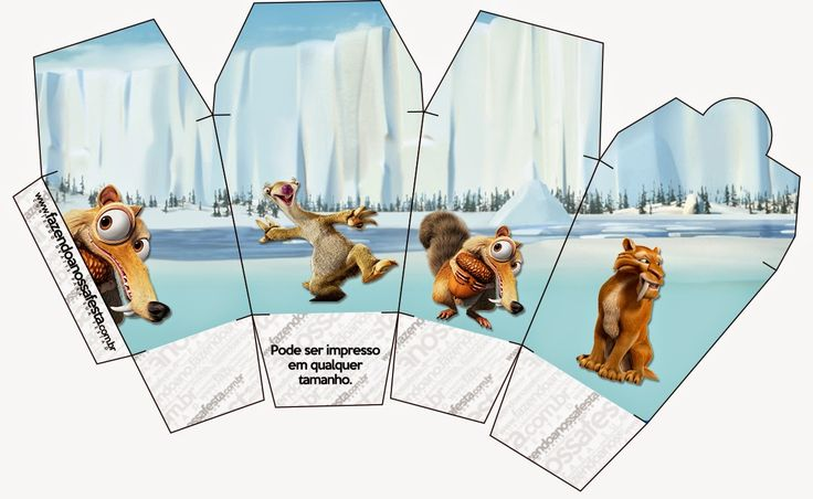 Ice Age: Free Printable Boxes. Check out the whole set! :)