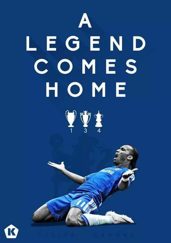 A Legend Comes Home: DIDIER DROGBA 2014 graphic design for KICKTV by Luke Barclay