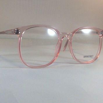 Vintage Pink Eyeglass Frames - Oversized Eyeglasses - Light Pink Clear Glasses…