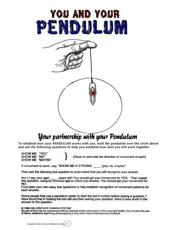 Divination Fortune Telling: Setting Up Your Pendulum Instructions   #Divination #FortuneTelling #Dowsing