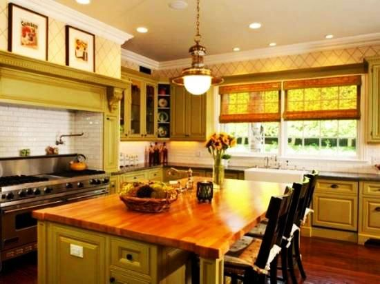 Cheerful summer interiors green yellow kitchen designs for Green yellow kitchen ideas