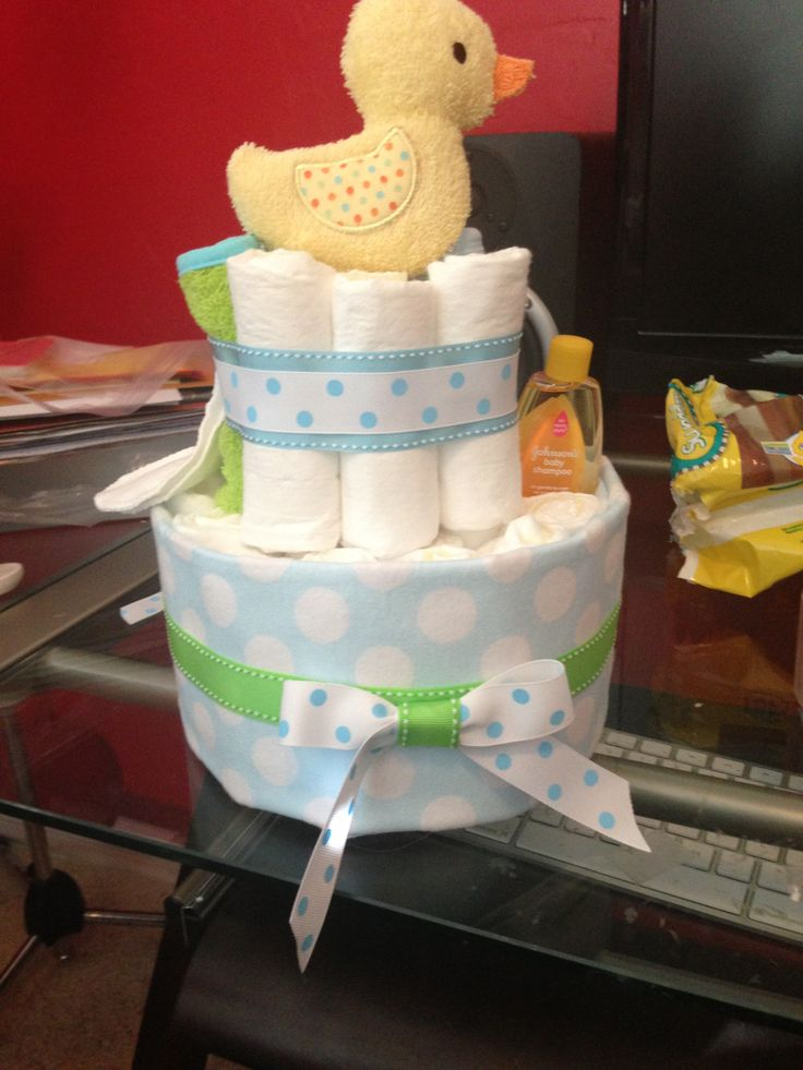 Small diaper cake for boy