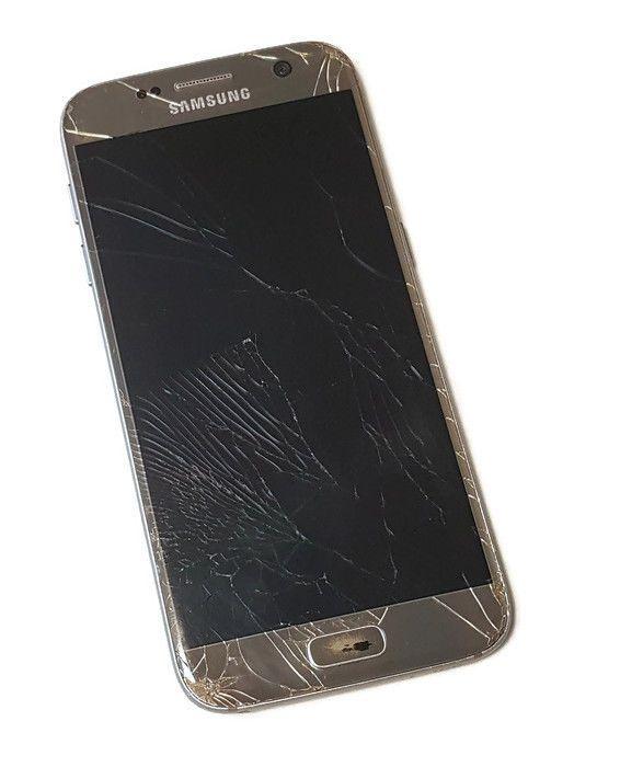 AT&T Samsung Galaxy S7 Gold 32GB Bad ESN Smartphone Android Phone BROKEN #9305  #Samsung #Smartphone