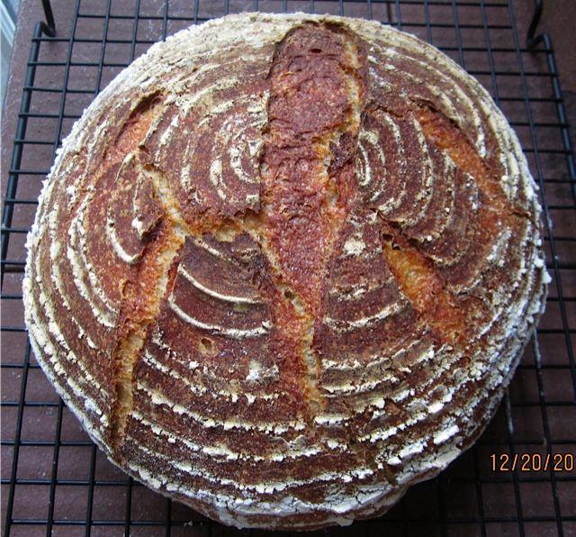 barley bread- welsh recipe//4 cups barley flour,2 teaspoons of salt,1 teaspoon of sugar,1 package of dry yeast,1 cup warm water// 400 degrees 25 min.