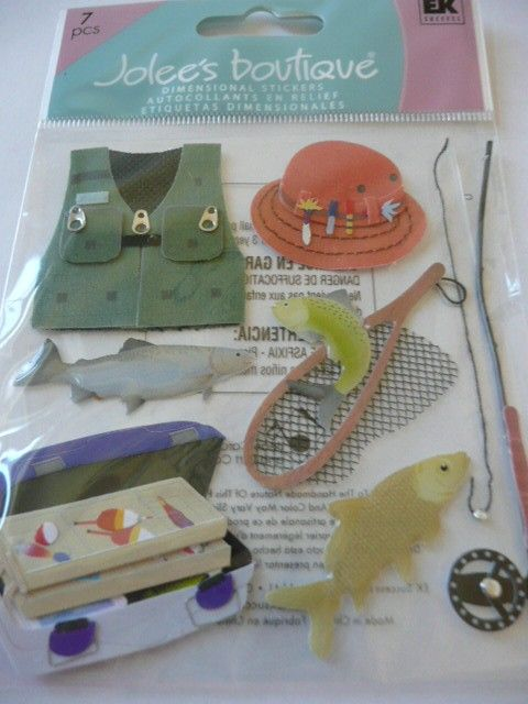 Hey, I found this really awesome Etsy listing at https://www.etsy.com/listing/31209516/fishing-jolees-boutique-3d-scrapbooking
