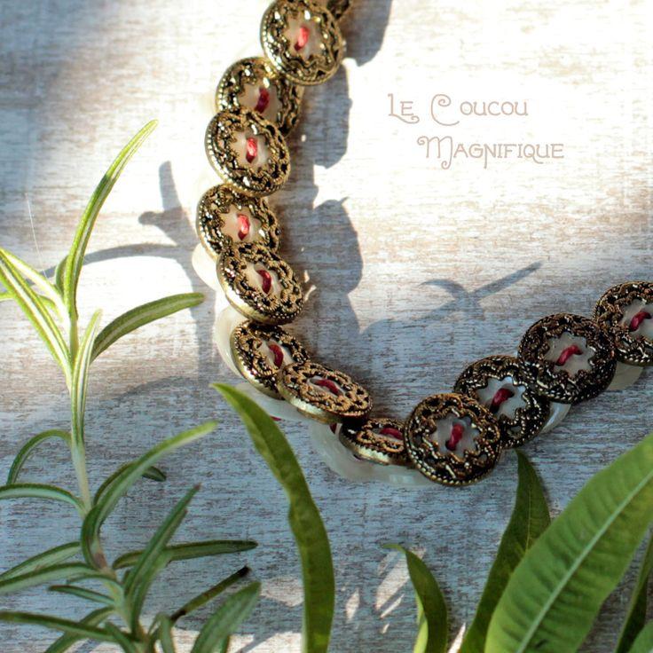 Collana in madreperla e bronzo in stile retrò., by Le coucou magnifique, 17,00 € su misshobby.com