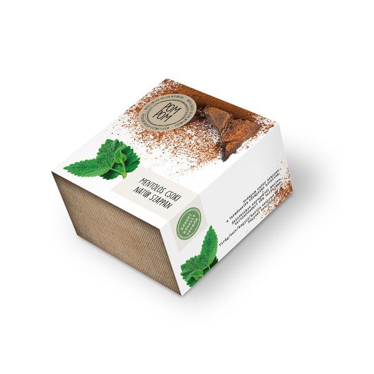 Mentolos csoki natúr szappan * Mint-chocolate natural soap