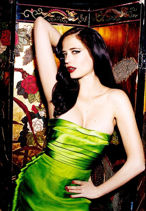 eva green in green!