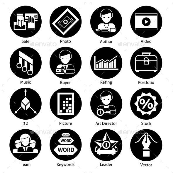 Stock Icons Black