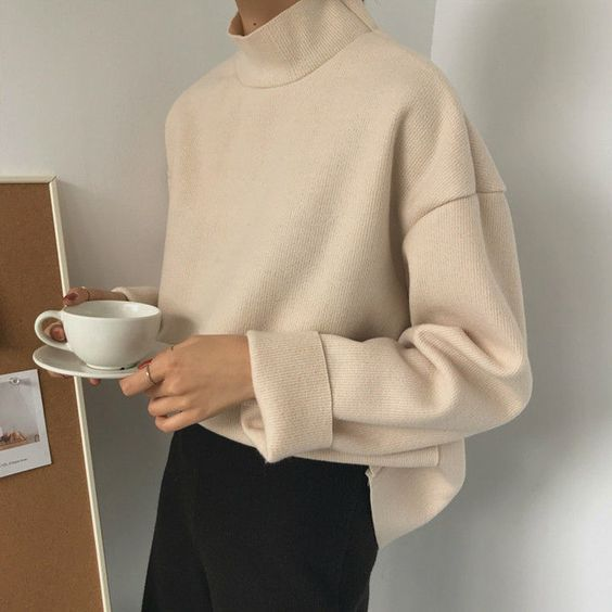 Neutral | Knitwear | Classic | Turtleneck | Sweate…