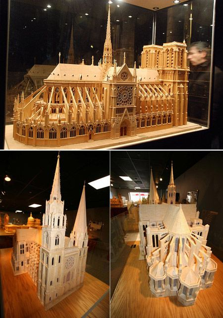Check out this amazing scale model of the Notre Dame Cathedral ! Someone spent a lot of hours putting this 174,00 matchsticks together!
