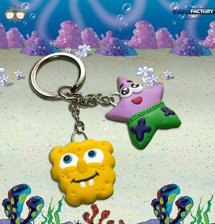 Spongebob key ring hand-made! http://www.thenfactory.com/prodotto/spongebob/